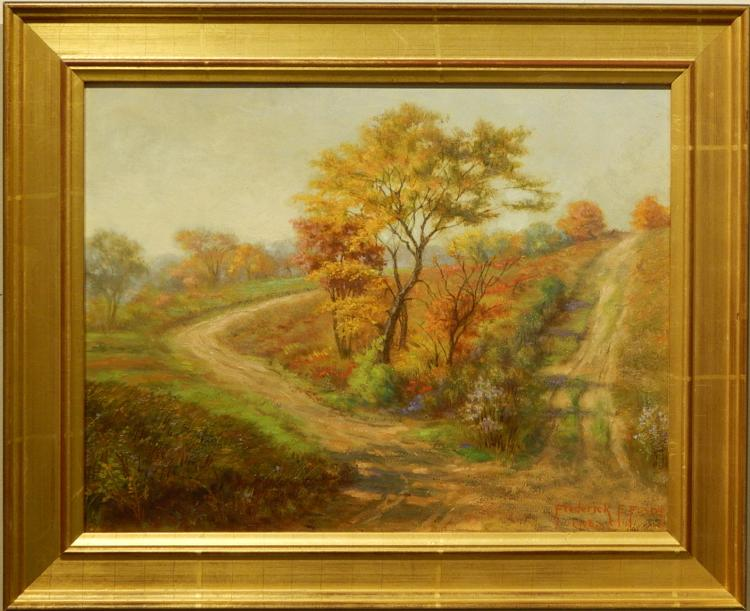 Frederick E. Foster: Autumn Landscape With Two Roads , 1908