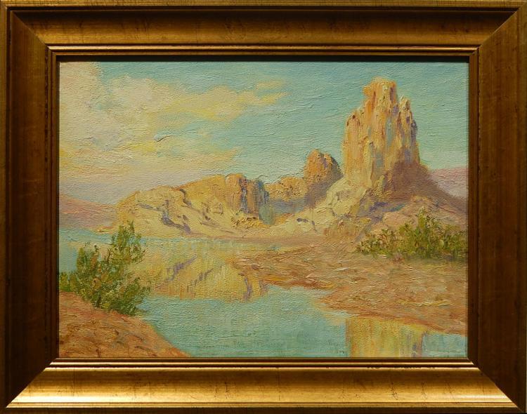 Margaret Morgan Wolfe: 1955 Desert Landscape