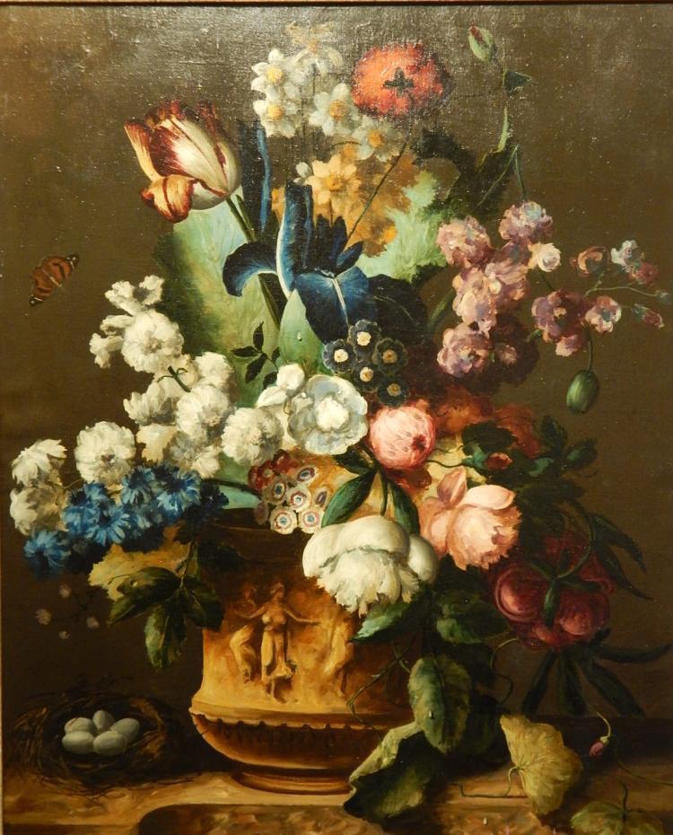Anita Nagy: Floral Still Life Oil Painting c.1930