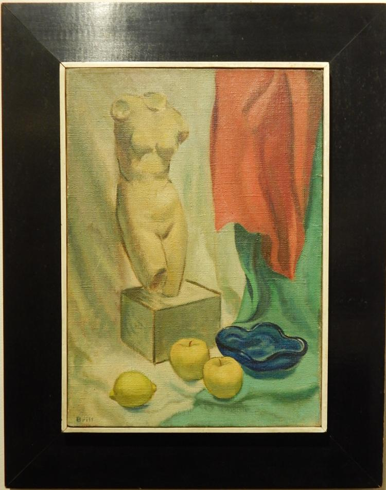Brill: Still Life Oil Painting c.1950