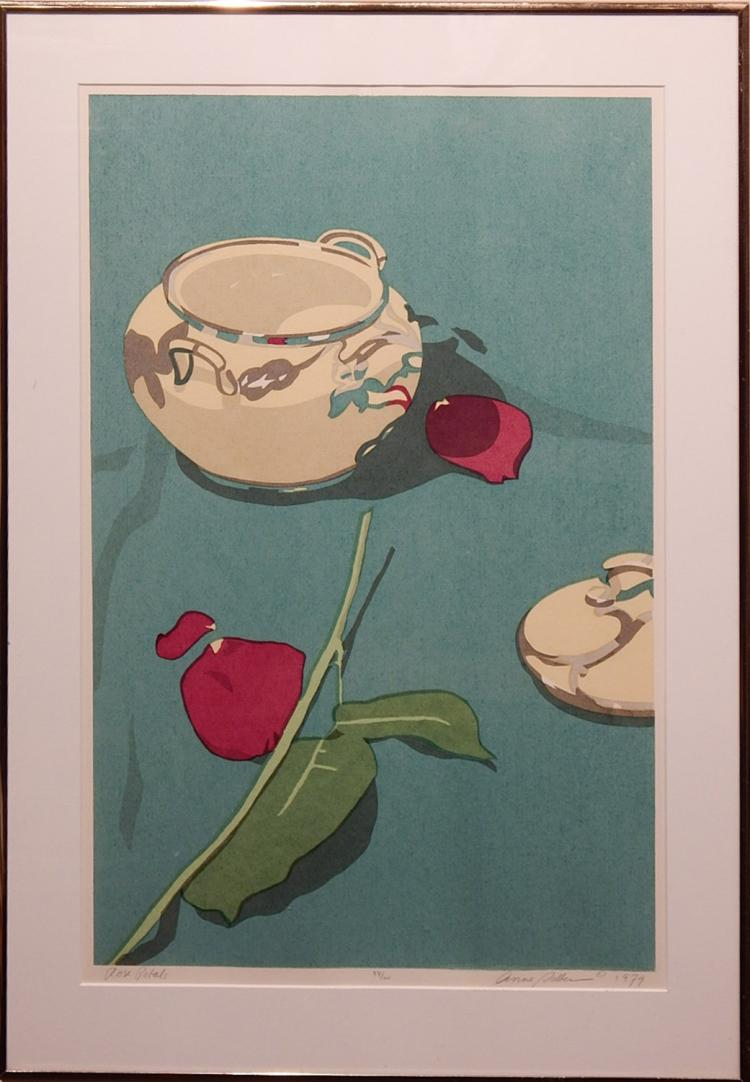 Anne Silber: Rose Petals 1979 Hand Made Serigraph Signed
