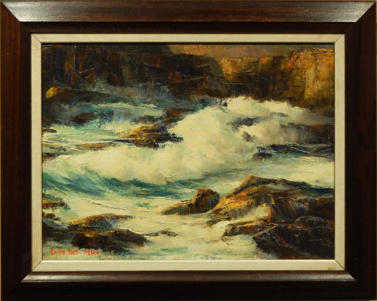 Emilie Des-Atlee: Seascape Oil Painting