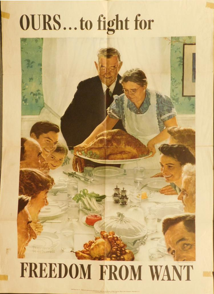 Norman Rockwell War Bonds Poster Freedom From Want