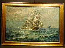 James J. McAuliffe: Clipper Ship, 1920 Oil painting