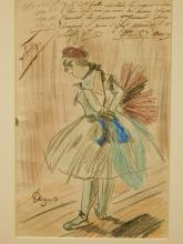 Edgar Degas: Danseuse, signed drawing