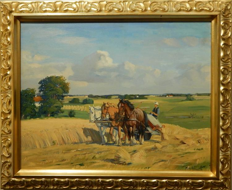 Johan Meyer Andersen: Hay Rake w/Team Of Horses