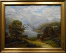 O.A.Bullard (Attributed) Landscape Oil Painting c.1837