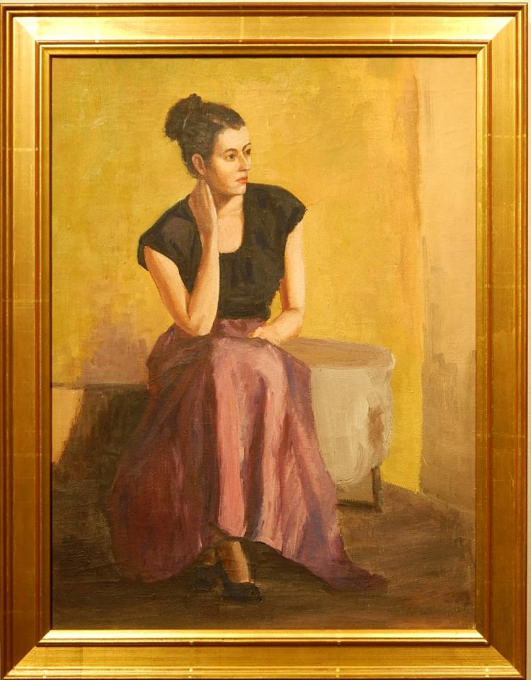 Bob LeRose: Portrait/Figure Study Of A Young Woman 1948