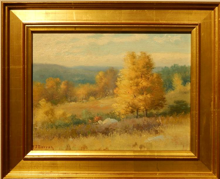 Frank Darrah: Golden Plein Air Landscape Oil Painting