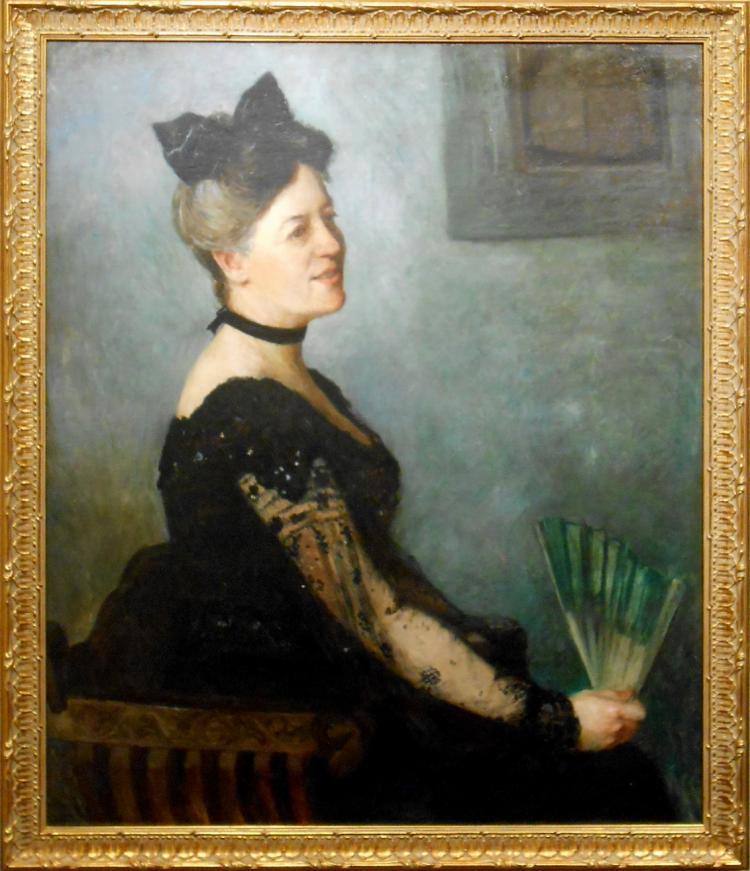 Francis Brooks Chadwick: Portrait of a Woman with Fan, 1924