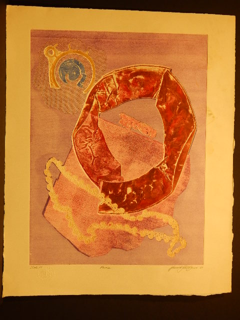 Howard J. Besnia: Abstract Intaglio Monotype c. 1967