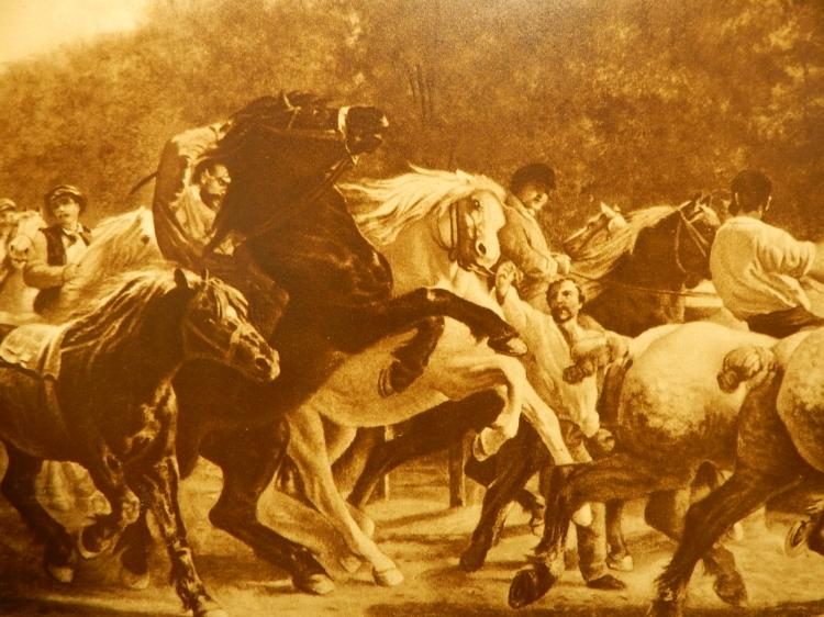 Horses By Rosa Bonheur 1853 Prang Co Lithograph