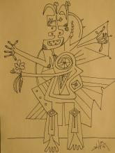 Wilfredo Lam: Shaman, 1941 Drawing