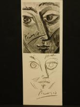 Picasso Autograph and Drawing on book page