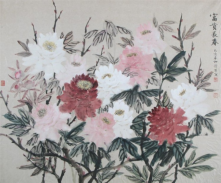 Chien-Ying Chang (Chinese 1913-2004) Peonies