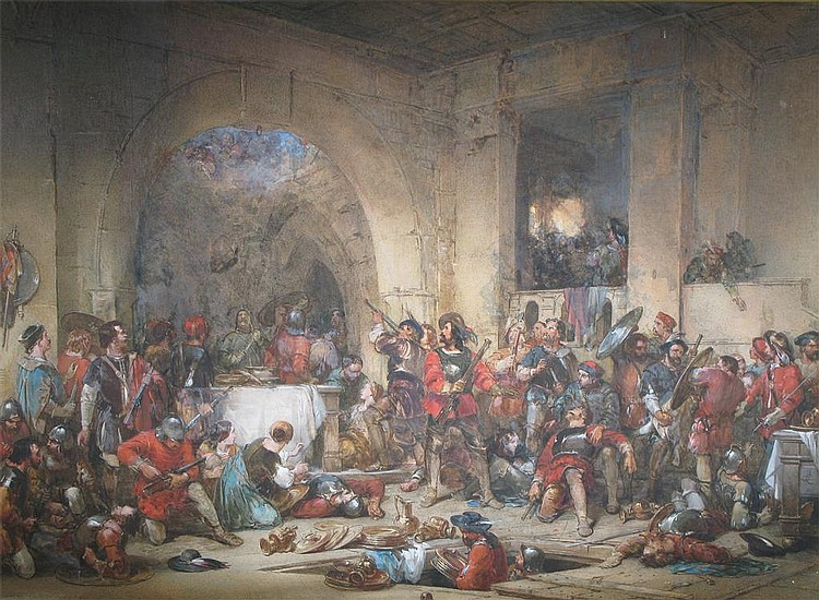 George Cattermole (1800-1868) The end of the siege