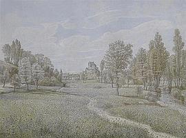 Peter Becker (German 1828-1904) View of a German