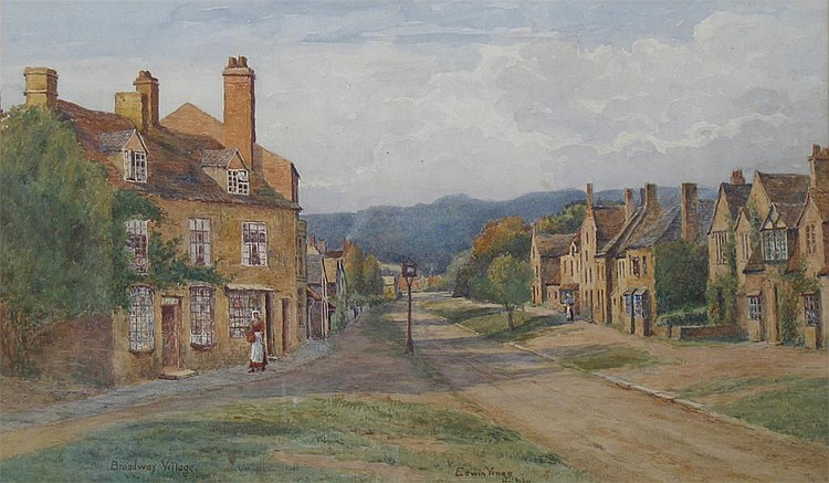 EDWIN VINER (b.1867): Broadway Village, signed and