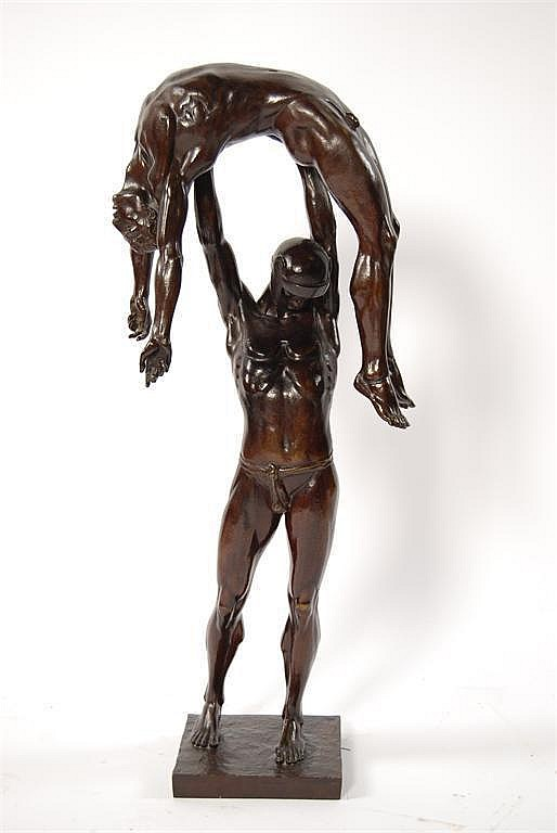 Victory' a patinated bronze cast from a model by