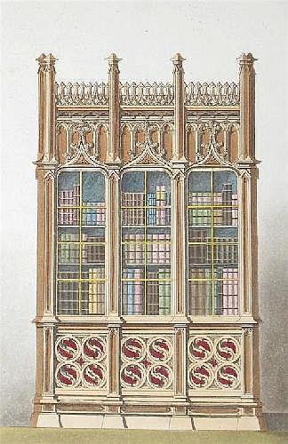 Pugin (Augustus Charles). Gothic Furniture, 27