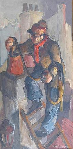 Alexis Hinsberger (French 1907-1996) The chimney