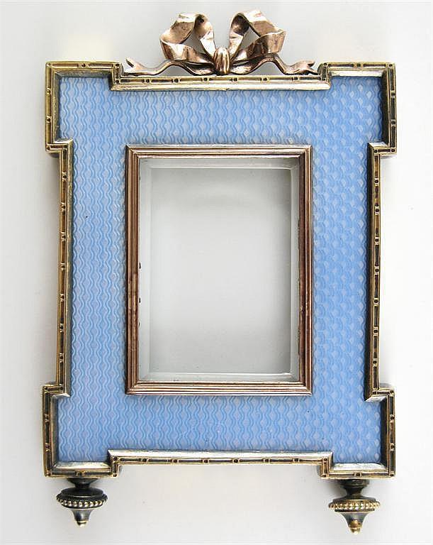 Karl Faberge. A rectangular silver gilt small