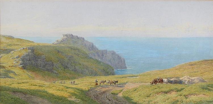 Charles Topham Davidson (1848-1902) Figures on a