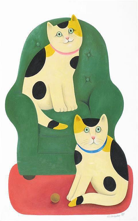 ‡ Martin Leman (b.1934) Queenie and Rex,