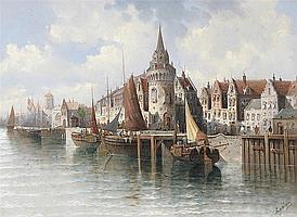 August von Siegen (German b.1850) Utrecht Signed