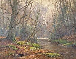 Frederick Golden Short (1863-1936) Wooded river