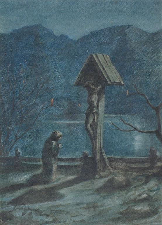 Sir Philip Burne-Jones (1861-1926) Moonlit