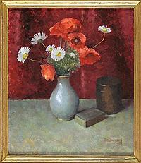 Tom Henslow Barnard (b.1898) Poppies and Daisies