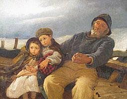 Painting by Alfred Edward Emslie (1848-1918)