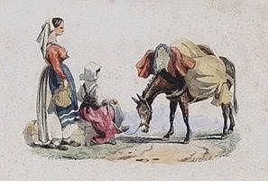 Arthur John Strutt (1819-1888) Studies of Italian