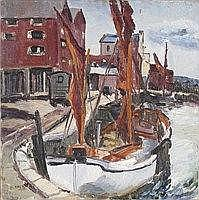 ‡ Denise Broadley (1914-2002) Fishing boat