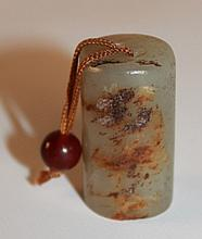 Antique Chinese Carved Jade Page Or Scroll Weight