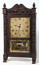American Classical Carved Mantel Clock