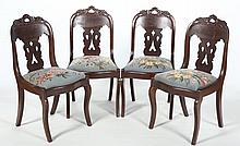 Set Four Empire Chairs, Attributed To Thomas Day