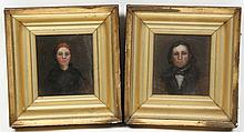 Pair American School Portraits