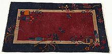 Vintage Chinese Art Deco Pictorial Carpet