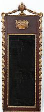 Adams Style Colonial Revival Gilt Mahogany Mirror