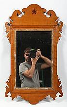 Fine American Federal Inlaid Tiger Maple Mirror