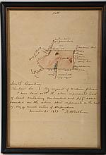 Kershaw County Hand Drawn 1897 Survey Map