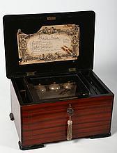 Antique Dutch Marquetry Music Box