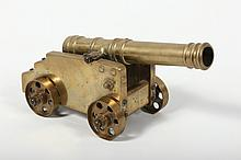 Antique or Vintage Brass Single Cannon