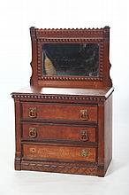 Folksy Antique Tramp Art Child's Dresser