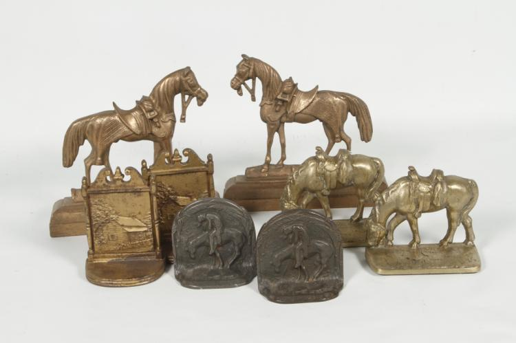 Equine themed antique brass bronze bookends - Antique brass bookends ...
