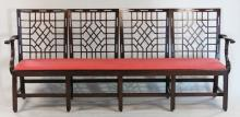 Fine Chinese Chippendale Style Mahogany Settee