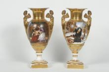 Good Pair Neoclassical Porcelain Urns