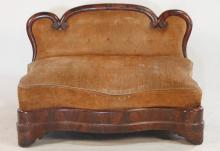 Small Classical Southern Mahogany Settee